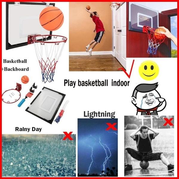 Mini Basketball Hoop Backboard Systems Indoor Outdoor Net Goal Home Office Room