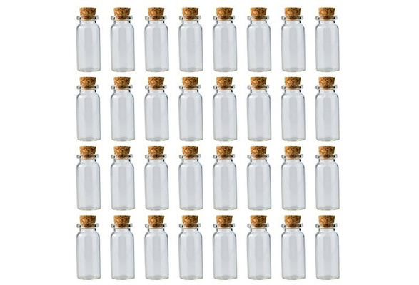 28d9a3a4b1bf Wobe Cork Jar Glass Bottles DIY Decoration Mini Glass Bottles Sample Jars,  Small Vials Cork, Tiny Message Glass Bottle with Cork Stoppers, Wedding ...