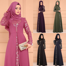 Plus Size, Lace, Long Sleeve, Dress
