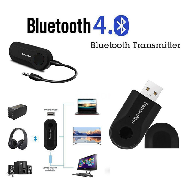 AMAKE Bluetooth Transmitter Wireless Music Stream Audio Adapter Portable  USB Dongle (aptX ,A2DP, For 3 5mm Audio Devices and Home Stereo System,Pair