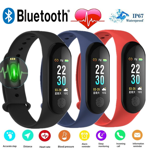 Fashion Xiaomi Mi Band 3 Plus Smart Band OLED Touch Color Screen Outdoor  Sport Fitness Tracker Running Step Counter Pedometer IP67 Waterproof  Swimming