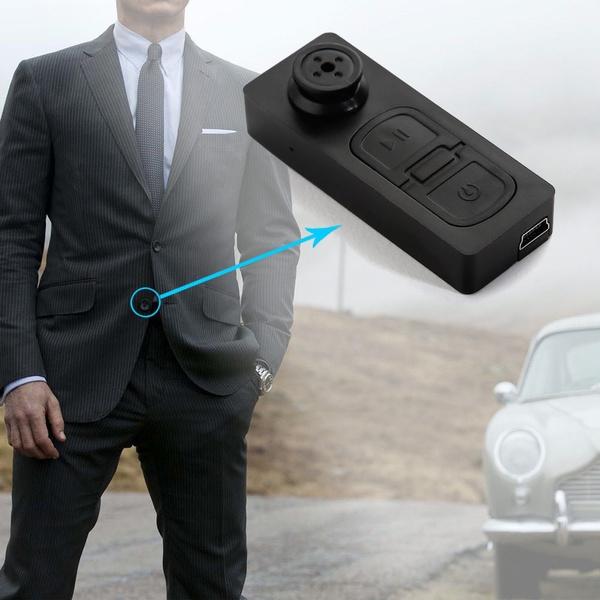SECRET WITNESS  Mini Button Spy Camera Shirt Hidden Camera Video DVR Camcorder