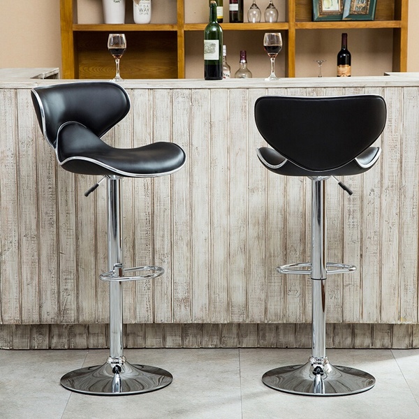 Excellent Bar Stools Set Of 2 Adjustable Bar Stools Adjustable Swivel Barstools Modern Adjustable Pu Leather Swivel Saddle Back Design Bar Stool Chair Machost Co Dining Chair Design Ideas Machostcouk