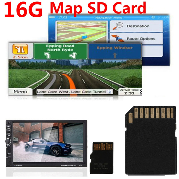 2018 NEW 16GB GPS Map Micro SD Card Map Memory TF Card For Car DVD Player  Navigation With Latest Map For MP5 Player/GPS Navigator/Tachograph