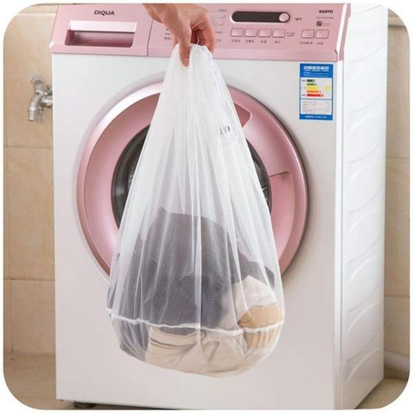 Mesh Laundry Bags Drawstring For Washing Machine Reusable Bag Bra Socks S Stockings Baby Clothes 1large 1medium 1small