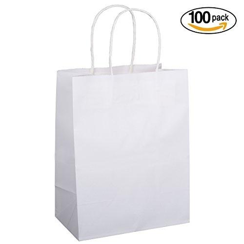 Paper Bags Shopping Bags 8x4.75x10.5 100Pcs BagDream Gift Bags,Cub Kraft Bags,