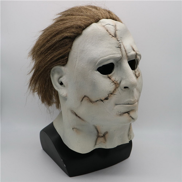 Halloween 2018 Michael Myers Mask.Michael Myers Mask Halloween 2018 Mask Zombie Game Cosplay Prop Adult Latex Scary Halloween Costume Fancy Dress