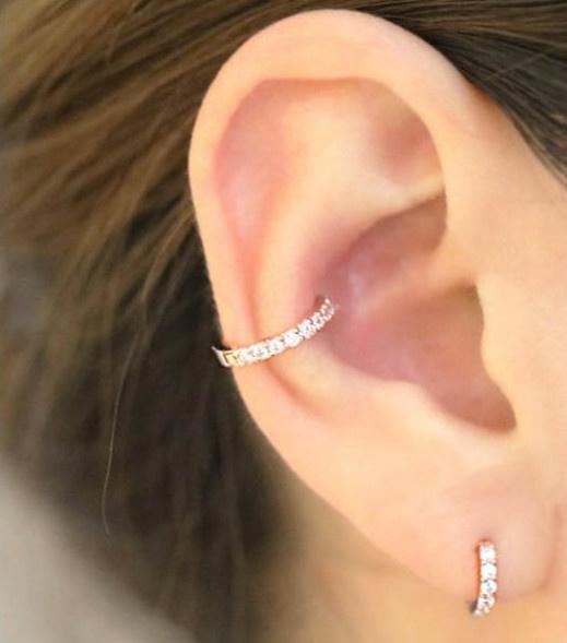 Hoop Earring, conchearring, gold, cartilage earrings