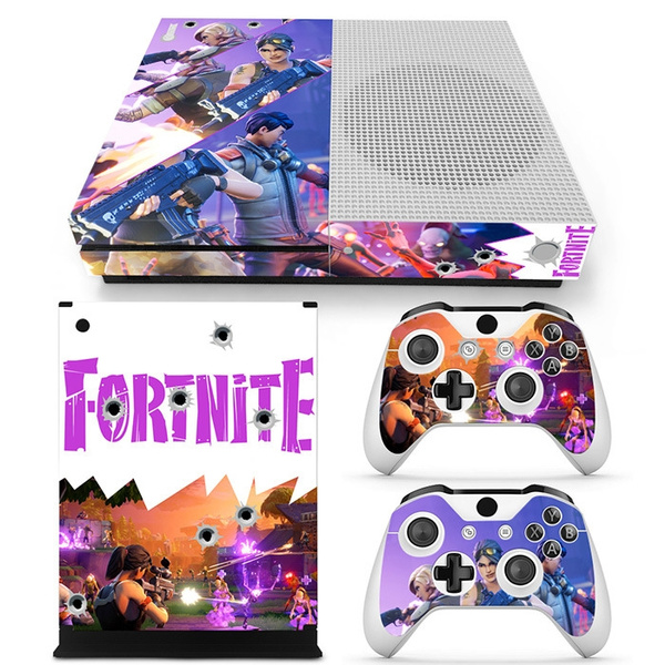 Xbox One Slim Skin Stickers Game Fortnite Stickers 1 Console Skin Stickers 2 Controller Skin Stickers Vinyl Decals Wrap Cover For Xbox One S