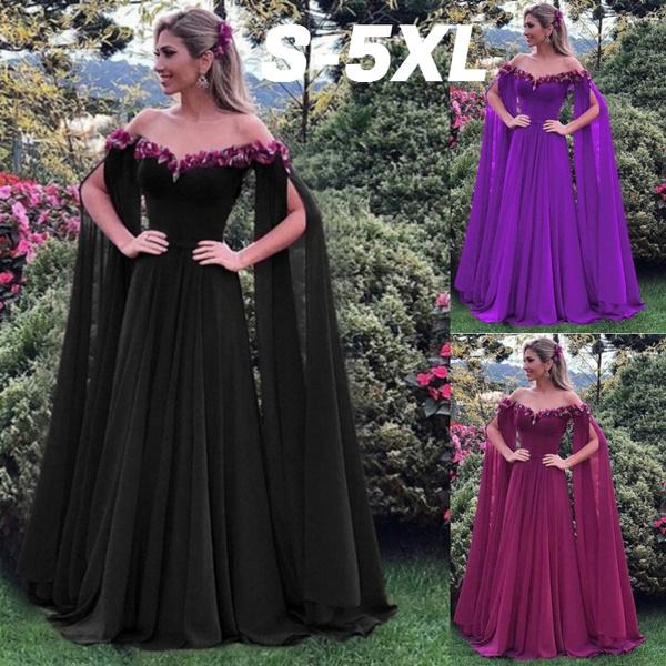 6c416d55faa S-5XL Oversized 2018 Women s Fashion Flower Fairy Long Dress Off ...