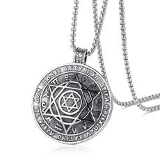 hexagramnecklace, Chain Necklace, Fashion necklaces, punk necklace