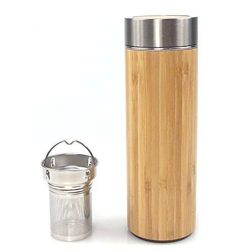 Bpa Tea Infuser And Double Strainer With Vacuum Original Insulated Filter Mesh Wall Coffee Water Bamboo Travel 15 Mug 2oz Bottle Tumbler Free For 0OwP8nkX