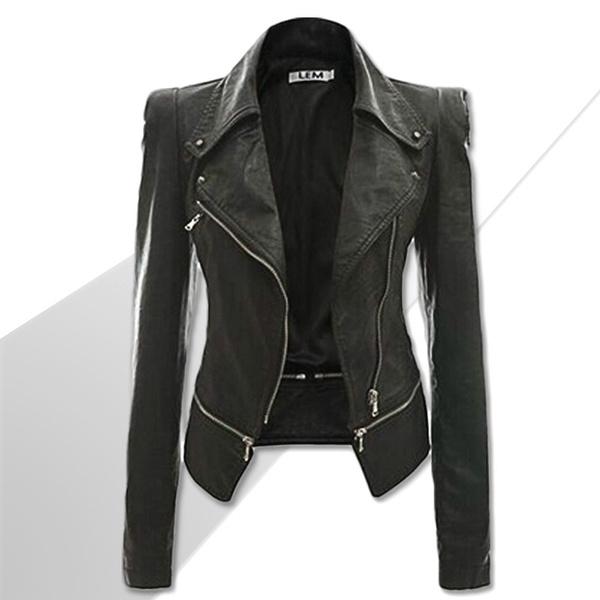 blackleatherjacket, Plus Size, athinleather, zipperjacket