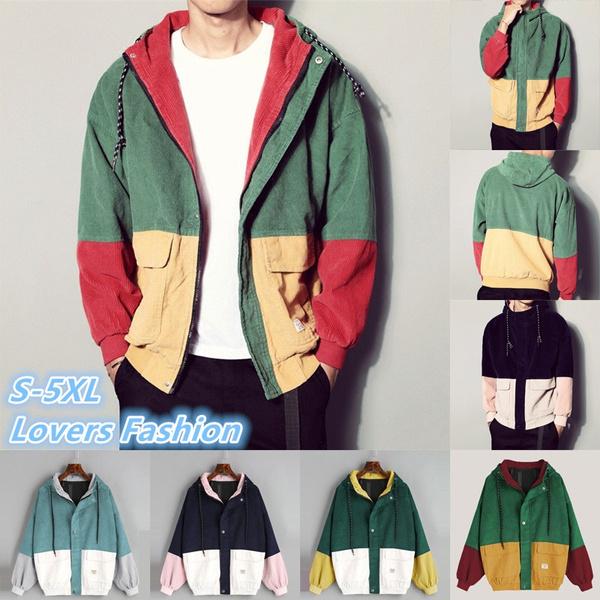 4619098848 Plus Size S-5XL Lovers Hoodies Fashion Corduroy Cardigan Coat ...