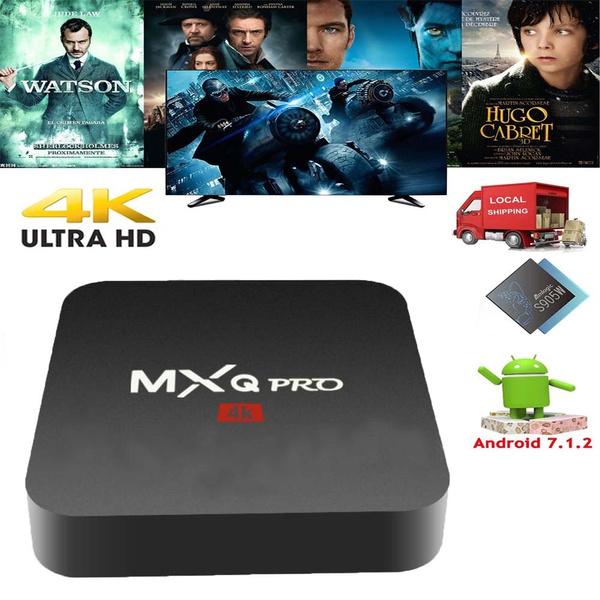 2018 MXQ PRO Android 7 1 2 Nougat S905W Quad core 4K Smart TV BOX MINI PC  HDMI