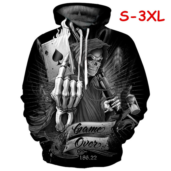 Couple Hoodies, 3D hoodies, Poker, hooded