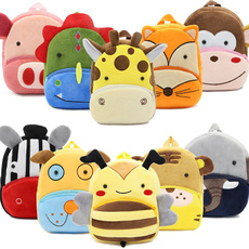 School, Plush, Cartoon Backpack, School Backpack