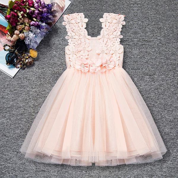 f413d19b3f Beautiful Girls Preschool Ceremony Tutu Dress Sweet Style Summer Princess  Party Dresses Kids Girl Clothes for Bridesmaid Wear