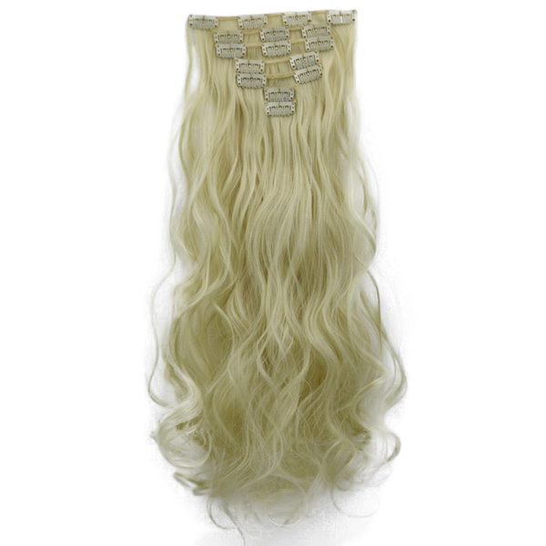 Wish 16 Card Curled Straight Chemical Fiber Hair Extension Wig