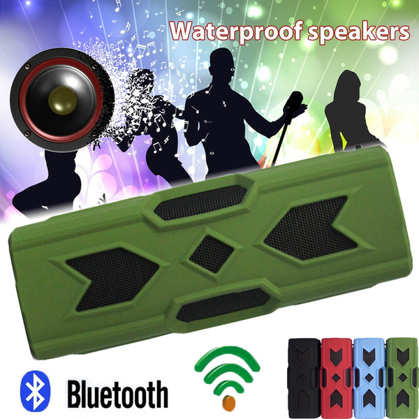 Waterproof Shockproof Portable Boombox Wireless Bluetooth 4 0 Speaker Ultra  Bass Subwoofer Sound Effect with 10-Hour Playtime NFC Compatibility with