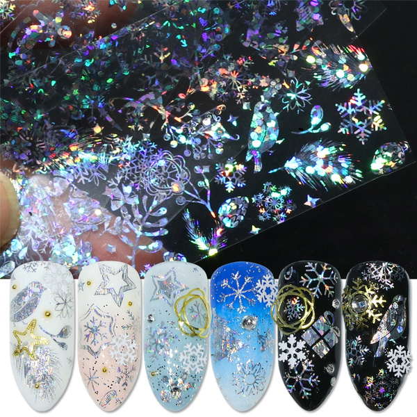 Nails, nail stickers, Holographic, Star
