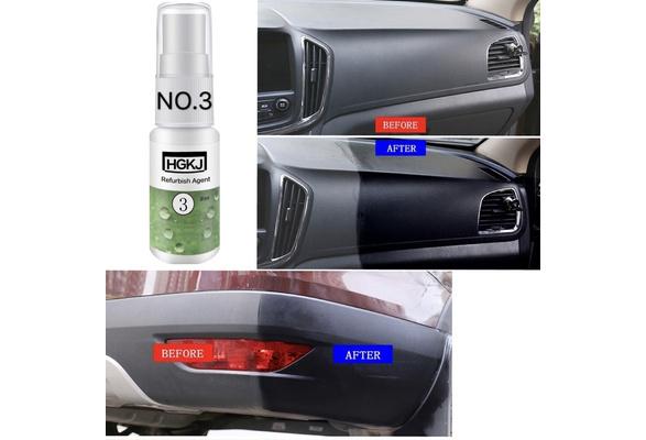 Car Refurbished Agent HGKJ-3 Trim Leather Plastic Care Maintenance Cleaner