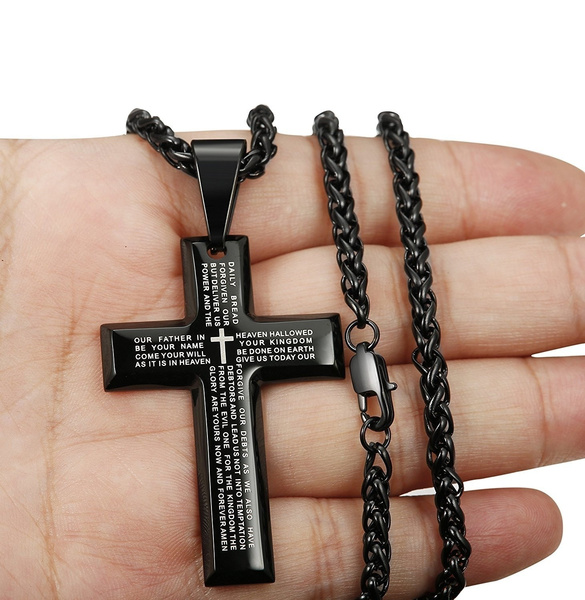 Steel, Blues, Chain Necklace, bible