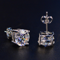 DIAMOND, Stud, topazearring, whitesapphireearring