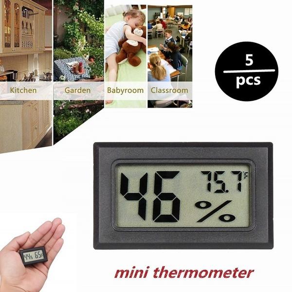 5pcs Thermometer Indoor Digital LCD Hygrometer Temperature Humidity Meter Mini