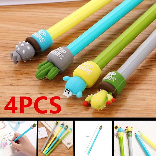 2Pcs//Lot Novelty Strong Cactus Plant Gel Pen Ink Marker Pen School Office Supply