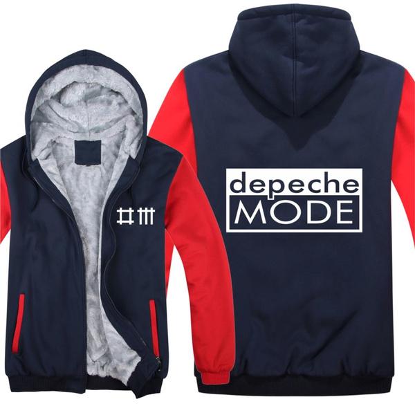 Fashion Casual Loose Sweatshirt Jacket Boy Coat Depeche Mode Dance New Winter Man Zipper Hoodie Alternative Dance Music Hoodies