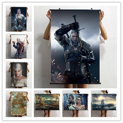 The Witcher 3 Wild Hunt HD Canvas Print Wall Poster Scroll Room Decor