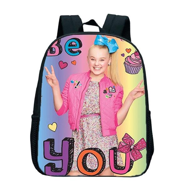 Wish Hot Cartoon Cute Jojo Siwa Backpack Children Kids Backpacks