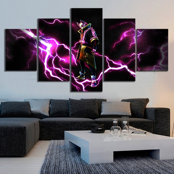 No Framed Hd Printed 5 Pieces Drift Full Armor Fortnite Battle Royale Canvas Painting For Living Room Decor Game Poster Wall Art