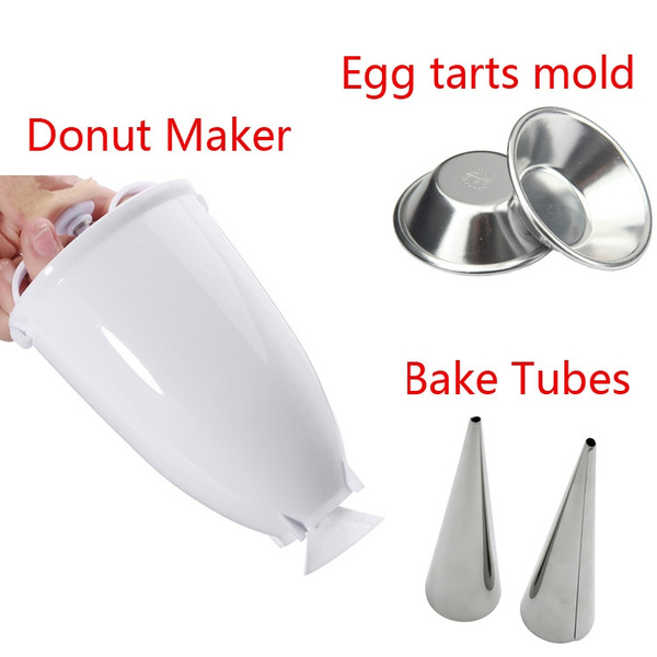 Plastic Doughnut Maker Machine Mold Kitchen Pastry Making DIY Baking Tool
