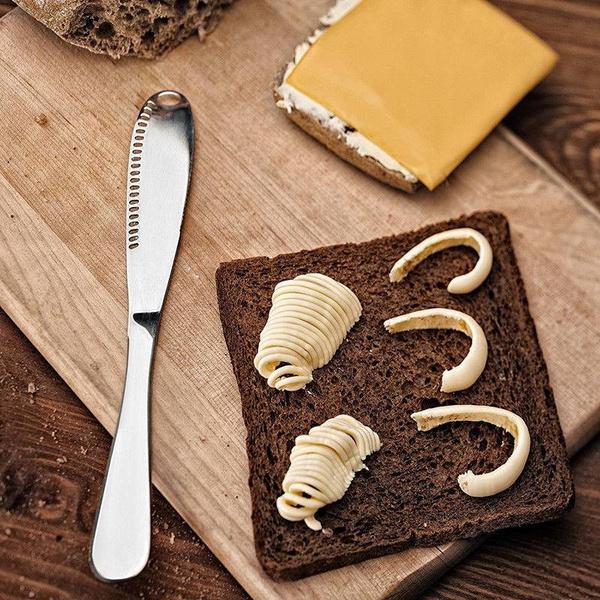 3 IN 1 Stainless Steel Butter Knives Utensil Cutlery Cheese Dessert Jam Spreader
