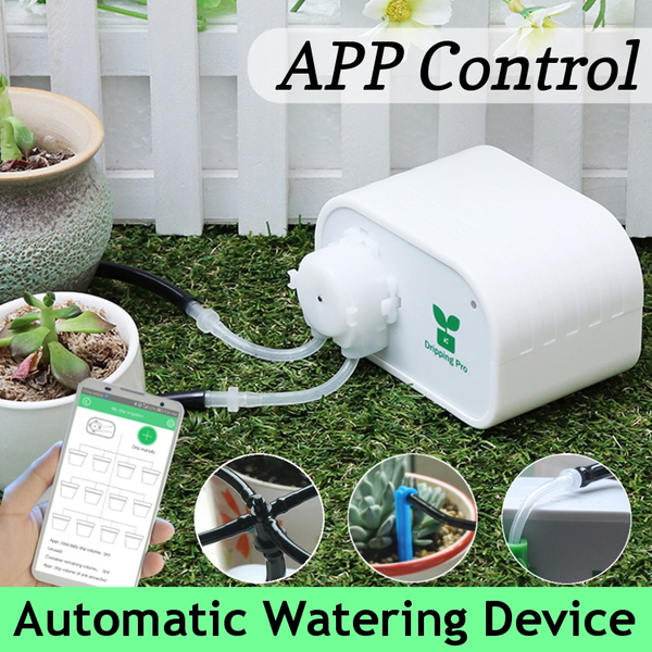 App Control Diy Micro Automatic Drip Irrigation Kit Houseplants Self Watering System With Timer Setting For Indoor Potted Plants Vacation Plant