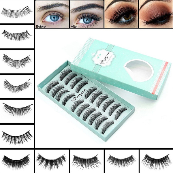 e2a1aa910e4 2018 New Mink Self-adhesive False Eyelashes Natural Curly Thick Glue Free Fake  Eyelashes Ultra Thin Handmade Fake lashes | Wish