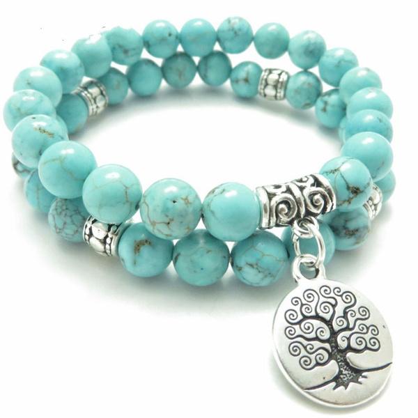 Beaded Bracelets, turquoisebracelet, Yoga, Jewelry