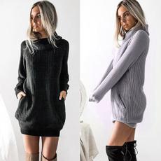 Fashion, sweater dress, Long sleeved, Dress