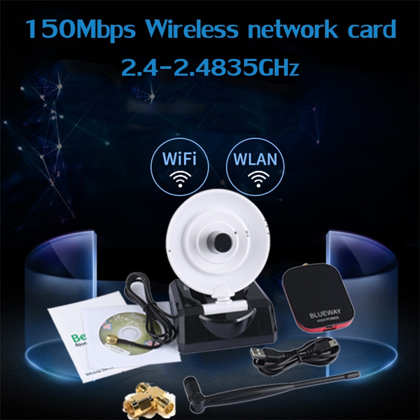 Password Crack Internet Long Range Dual Wifi 3000mW Antenna Wifi Adapter Decoder