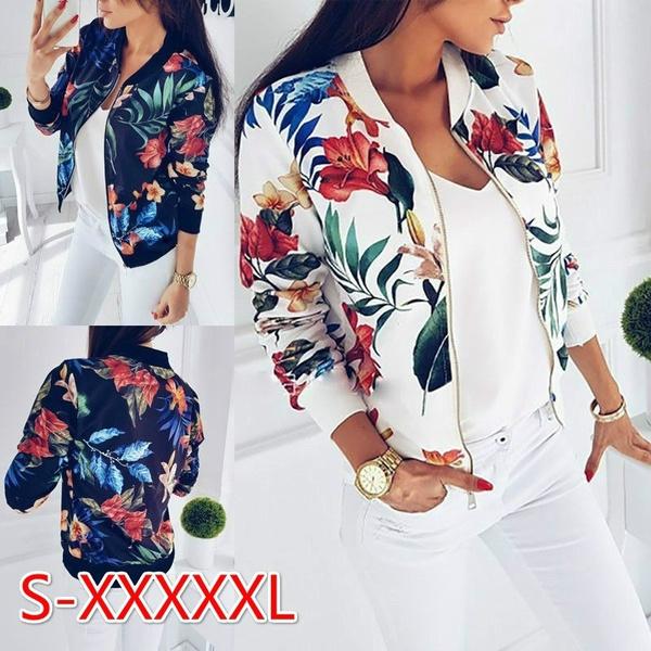 casual coat, Jacket, Fashion, Floral print