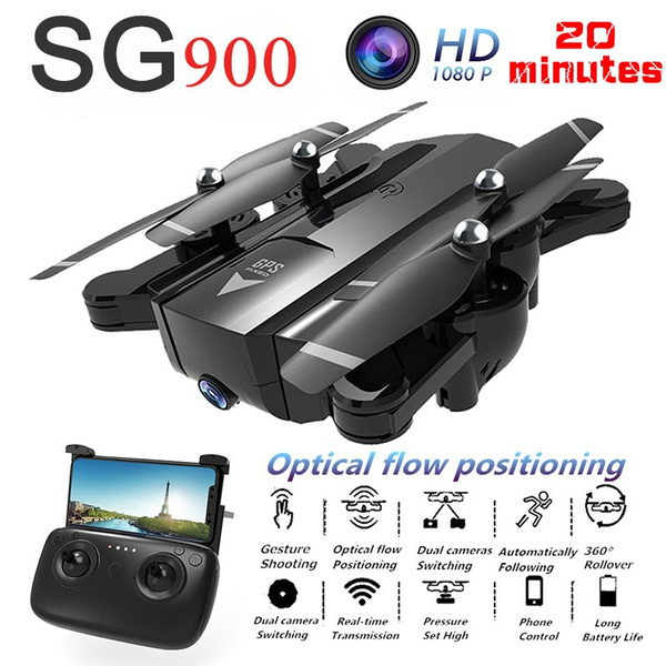 SG700 upgrade!!! SG900 Drone 2 4G FPV RC Drone with 2MP HD WIFI Camera RC  Helicopter Quadcopter Toy with V-SIGH Gesture Auto-photograph Function and