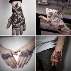 tattoo, Flowers, art, temporarytattoosticker