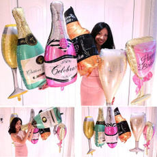 Decor, champagne, foilballoon, Cup
