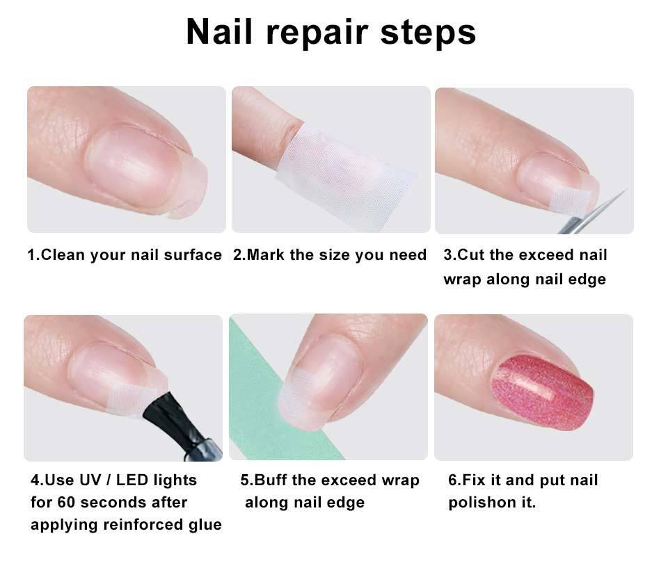 Fiberglass Amp Silk Nail Wrap Self Adhesive Nails Protector