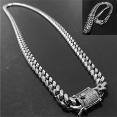 DIAMOND, Chain, Stainless Steel, gold necklace