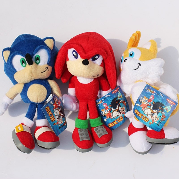 Hot Cute 1pcs 23cm Sonic The Hedgehog Plush Toys Ultimate Flash Sonic Hedgehog Plush Soft Stuffed Animal Doll Good Gift For Kids Wish