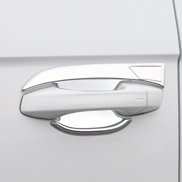 Beautost Chrome Front Bumper Fog Light Lamp Cover Bezel Trim Fit for Toyota Highlander 2015 2016