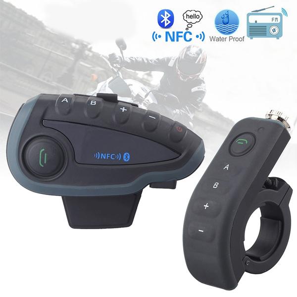 VNETPHONE V8 1200M NFC Helmet Interphone 5 Riders Intercom Headset with  Bluetooth Function